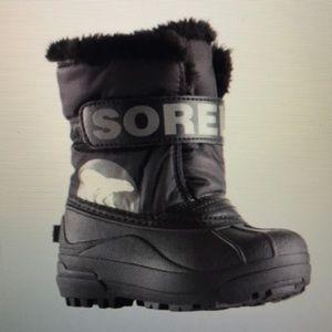 Sorel snow commander boots toddler size 4
